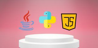 javascript, java and python