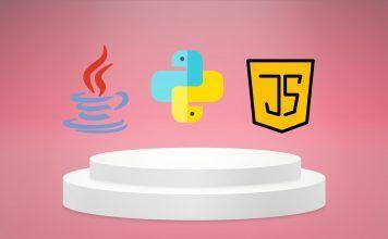 javascript, java and python